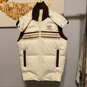 ADIDAS hooded down vest